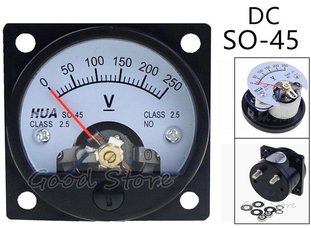 SO-45 DC 150V 250V 300V 450V 500V 750V винт монтируется Напряжение Панель вольтметр 47*47 мм