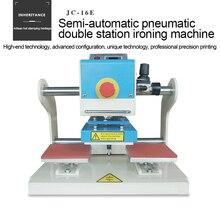 Machine à repasser pneumatique semi-automatique marque de commerce logo presse à chaud estampage machine vêtements modèle imprimante gaufrage Machine