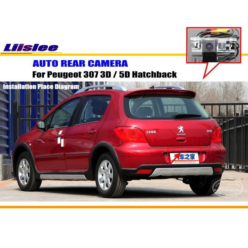Cámara de AUTO para Peugeot 307 3D 5D Hatchback cámara de visión trasera cámara de estacionamiento NTST PAL luz de matrícula OEM