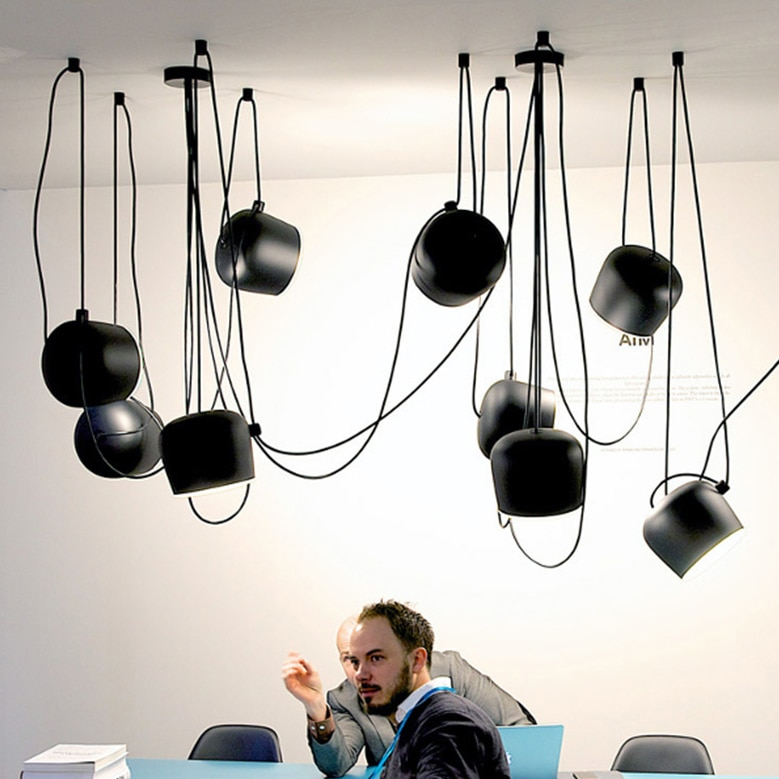 Luces colgantes de tambor pequeño moderno lámpara de techo redonda nórdica para el hogar iluminación interior lámpara de dormitorio cafetería colgar iluminación