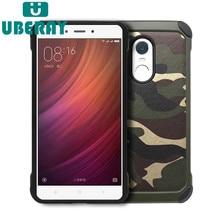 Uberay camuflagem caso de telefone para redmi note5 caso capa de luxo legal pc + silicone anti-choque para redmi note3 note4 saco do telefone móvel