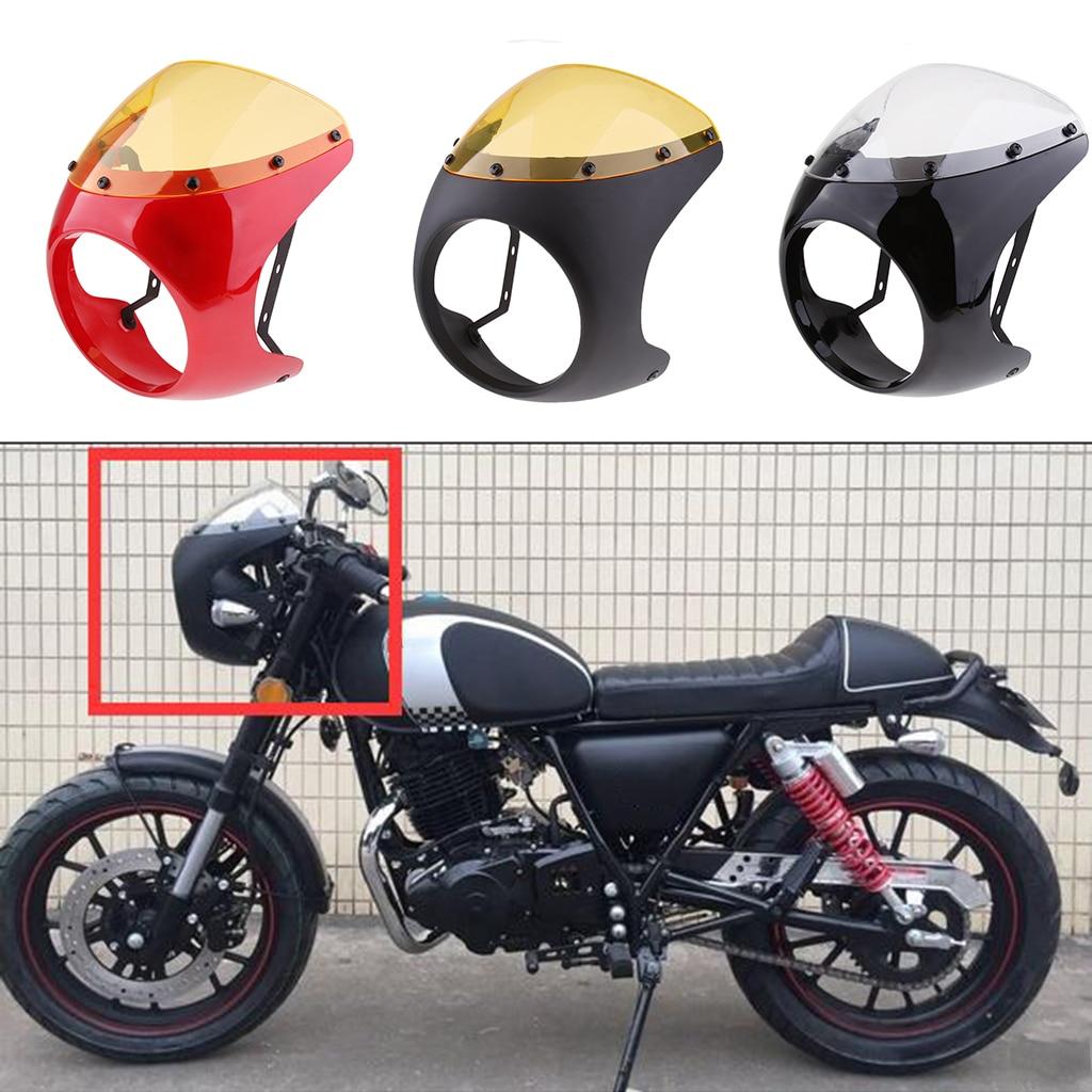 دراجة نارية المصباح هدية غطاء شاشة الرياح يناسب 16 سنتيمتر-18 سنتيمتر كشافات البلاستيك العلوي هدية الشاشة ل مقهى الرجعية المتسابق