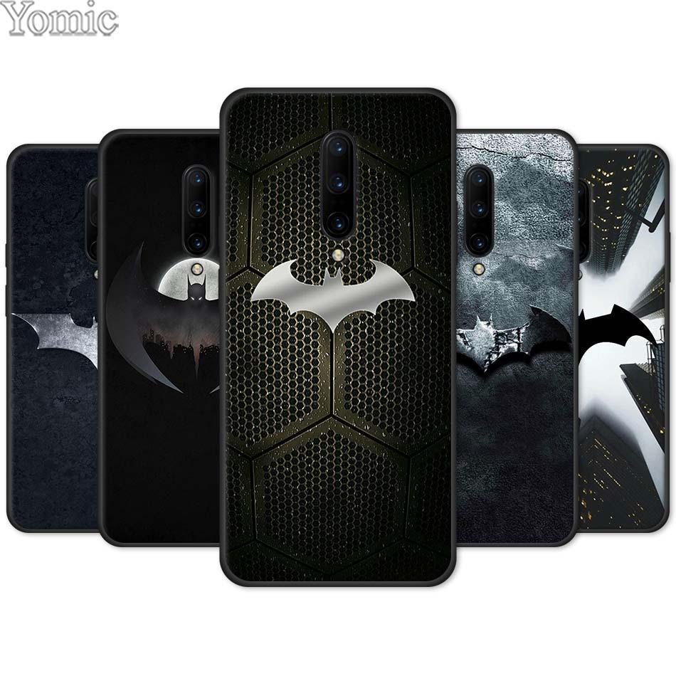 Крутой черный мягкий чехол marvel с логотипом Бэтмена для Oneplus 7 7 Pro 5G 6 6T, силиконовый чехол для телефона Oneplus8 7Pro, чехол из ТПУ