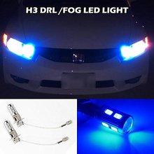 2x H3 Blauwe Led 5730 Smd Driving Fog/Auto Mistlamp Dagrijverlichting Led Bubs Voor Volkswagen Jeep Infiniti nissan