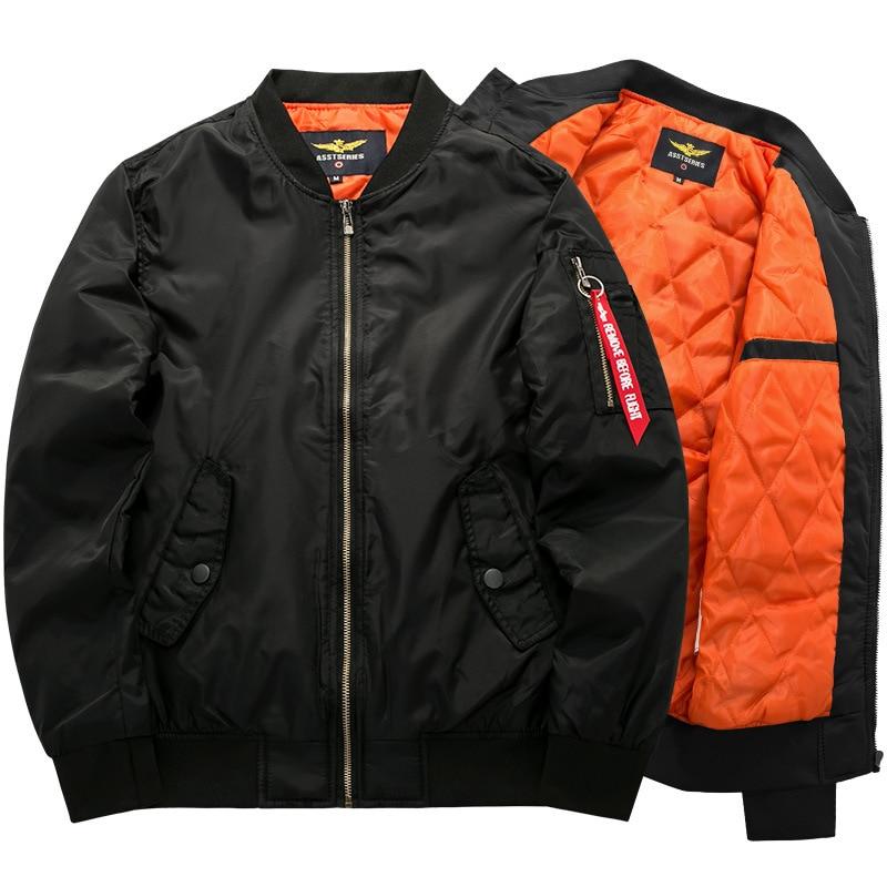 7xl 8xl bombardeiro jaqueta marca de moda casaco manga completa cor soild ma1 ai força jaqueta roupas masculinas