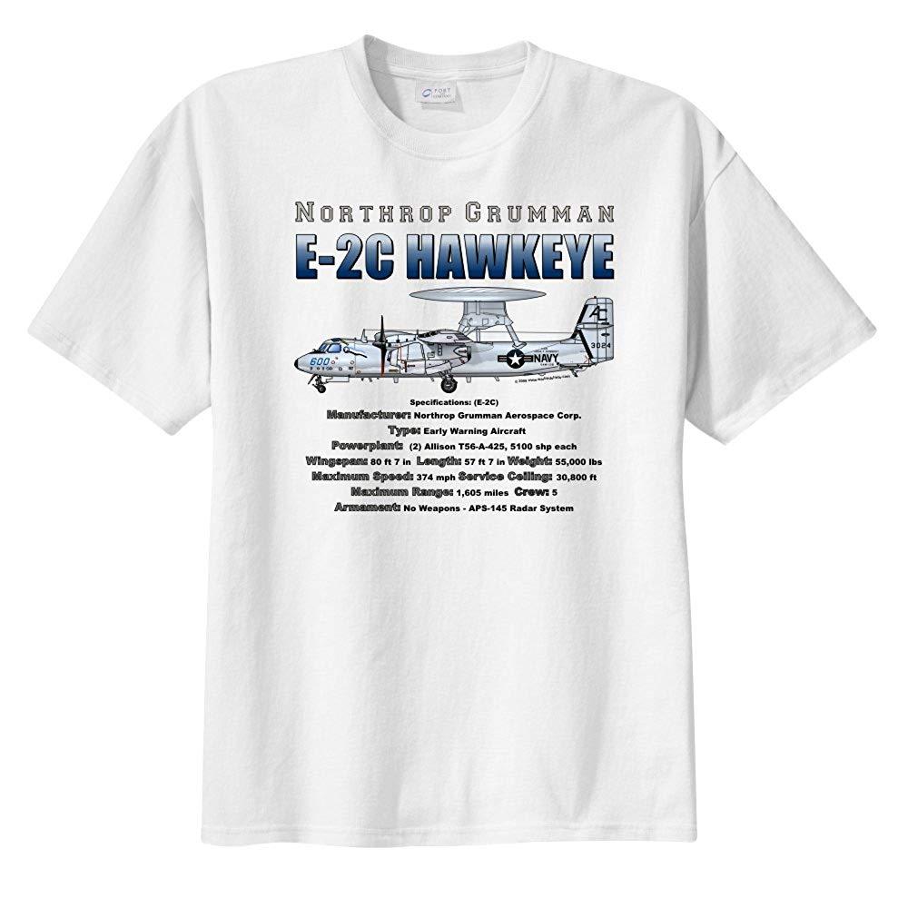 Camiseta de manga corta de hombre Northrop Grumman E-2C Hawkeye 2019 estilo de verano, camiseta a la moda para hombres, cuello redondo, manga sólido corto