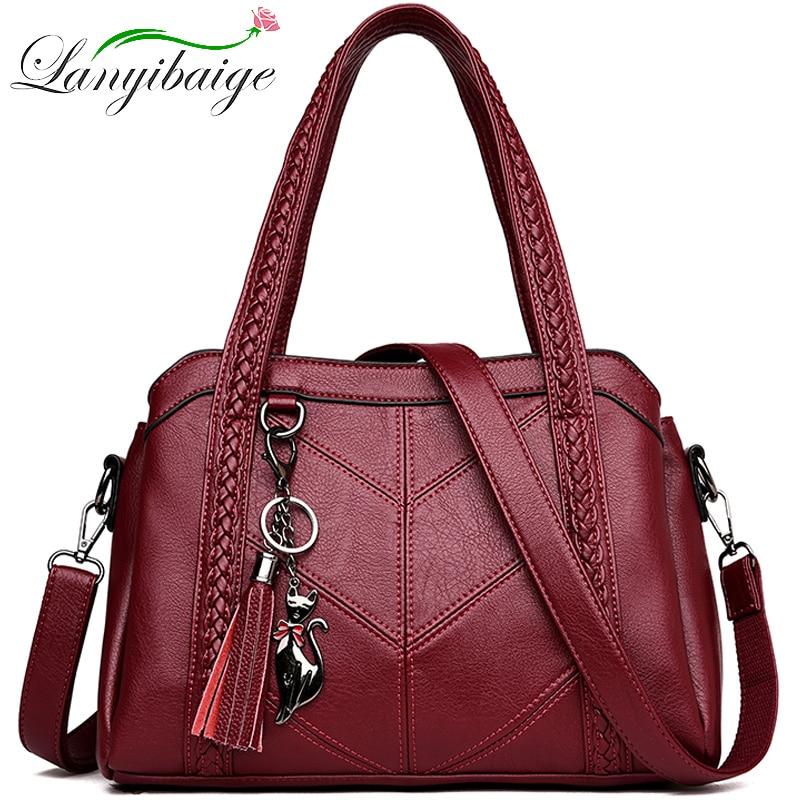 Women Casual Tote Bag Female Handbag Small Shoulder Bag for Women Tote Ladies Vintage Genuine Leather Crossbody Bag Sac A Main