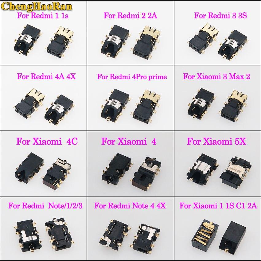 ChengHaoRan Earphone Headphone Audio Jack connector for Xiaomi 3/4/4C/5X for Redmi note/1/2/3/4X 1S 2 2A 3 3S 4A 4X 4PRO Prime