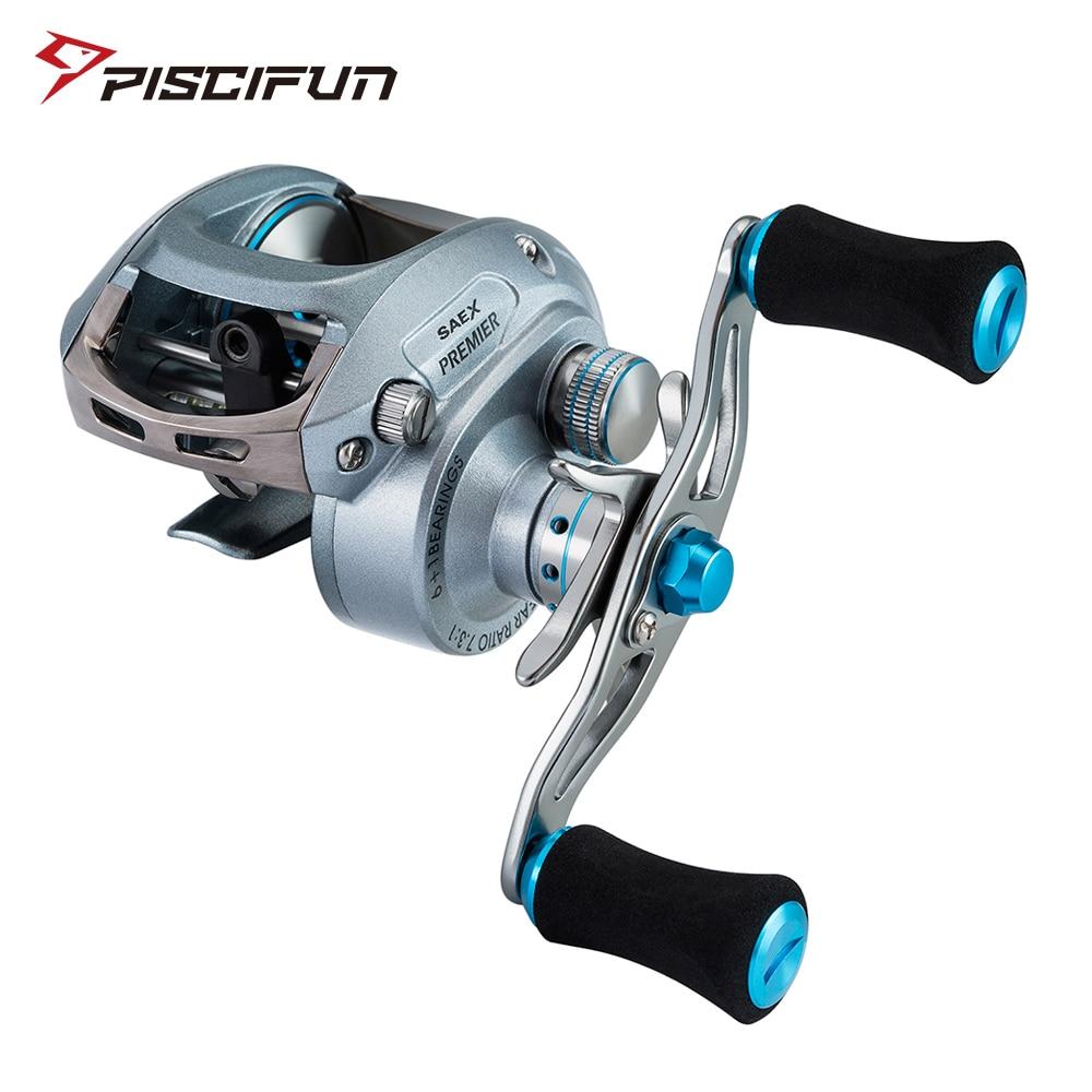 Piscifun Saex Premier Рыболовная катушка 7BB 7,3: 1 Передаточное отношение 179 г алюминиевая Правая или левая рука высокоскоростная катушка для рыбалки