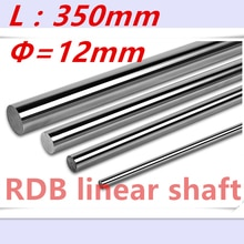 Rail linéaire de 12mm long 350mm   Axe linéaire de mm 12x 350mm en, tige durcie, rail de guidage linéaire, pièces de 3