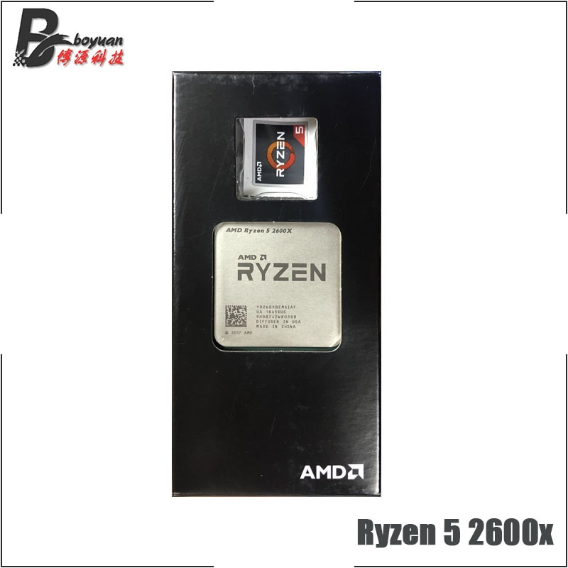 AMD Ryzen 5 2600X R5 2600X 3.6 GHz Six-Core Twelve-Thread CPU Processor L2=3M L3=16M 95W YD260XBCM6IAF Socket AM4
