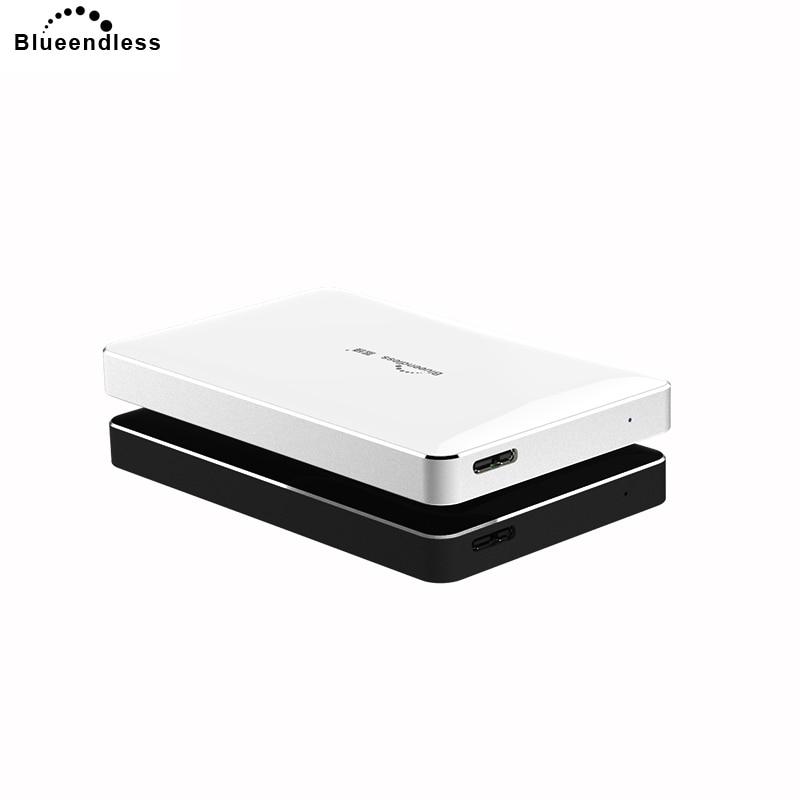 Blueendless 2.5 inch Micro USB Hard Disk Metal+ABS Plastic 750GB/500GB Sata USB Hdd External Hard Drive 1TB for Laptop Duro&30