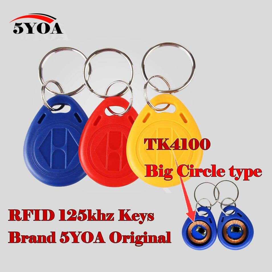 10 шт. RFID-метки, большие круглые брелоки, брелок, кольцо 125 кГц, чип для бесконтактной идентификационной Карты TK EM 4100/4102 для доступа и посещаемости