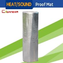 Cawanerl 1 Roll 8sqm 800CM X 100CM Car Heat Sound Shield Insulation Proof Mat Pad Deadener For Firewall Door Roof Trunk Floor
