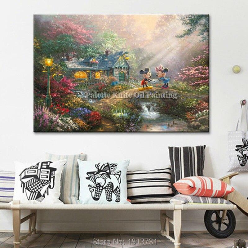 Постер и печать Томаса Кинкейда Микки Rurality Giclee на холсте, рождественские украшения для дома, настенные картинки для гостиной