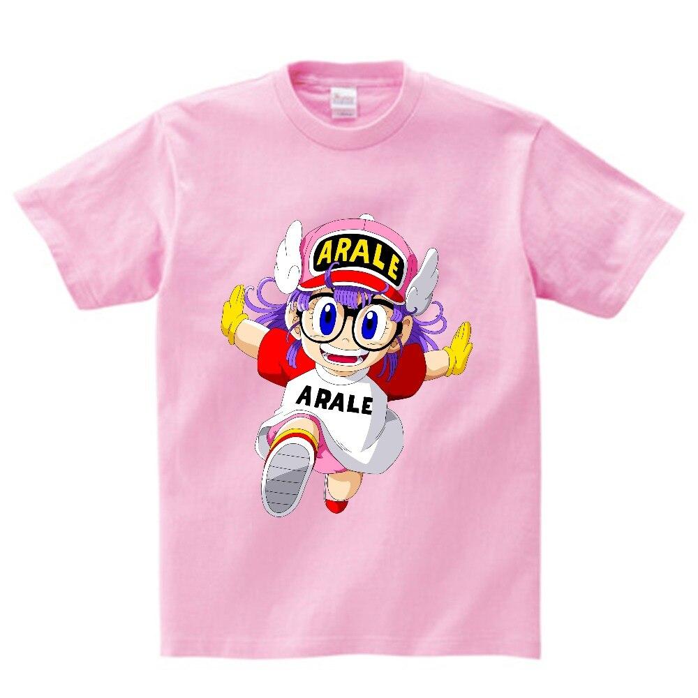 Camiseta con estampado de Arale de Anime para niños, camisetas de manga corta para niños, camiseta bonita de verano para niños, camiseta divertida de bebé, camiseta 3T-8 NN