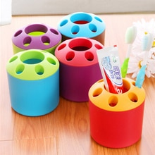 Hot Sale 2pcs/lot Food Grade PP Toothbrush Cup Seven Holes Multifunction Toothpaste Holder Brush Hol