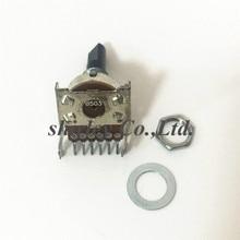 161 tip B503 çift B50K ses amplifikatörü amp ses potansiyometre anahtarı 6P 6pin tek sıra 6 bacaklı yarı-ses şaft 25MM