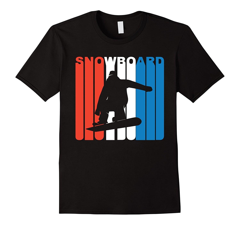 Camiseta Retro de Snowboard 2018 de manga corta para hombre, Camiseta de algodón con mangas para hombre
