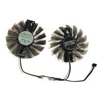 2pcs/set Palit gtx1070 gtx1080Ti GPU VGA Alternative Cooler Fan For GeForce GTX1080 Ti GTX 1070/1080 Grahics Card As Repalcement