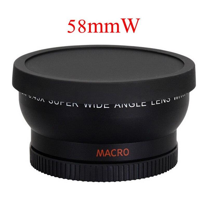 58mm 0.45x Lente Grande Angular Lente Macro Da Câmera para 58mm Filtro câmera para Canon EOS 1100D 1000D 500D Rebel T1i T2i T3i