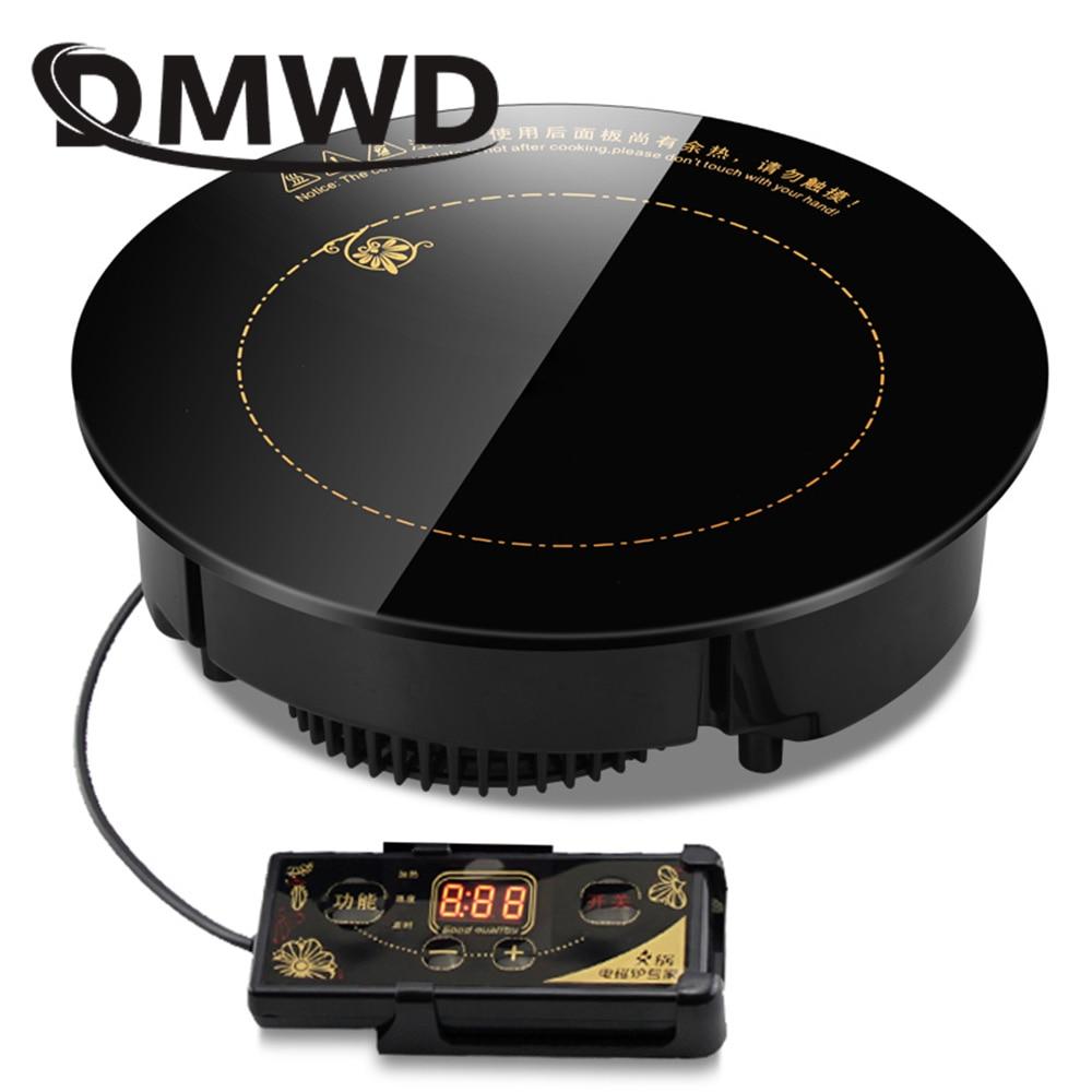 DMWD-طباخ كهربائي مغناطيسي دائري ، 2000 واط/2200 واط ، تحكم في الأسلاك ، موقد مقاوم للماء ، موقد
