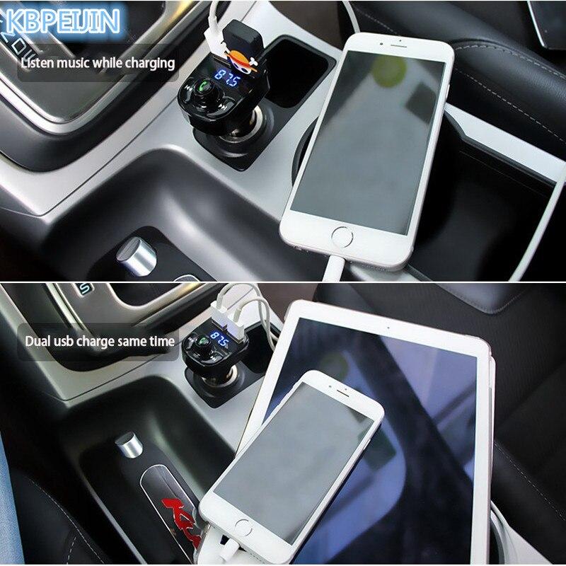 Car 5V 4.1A Dual USB Charger MP3 Audio Player Bluetooth Transmitter for Cadillac srx cts ats escalade key emblem sts dts bls
