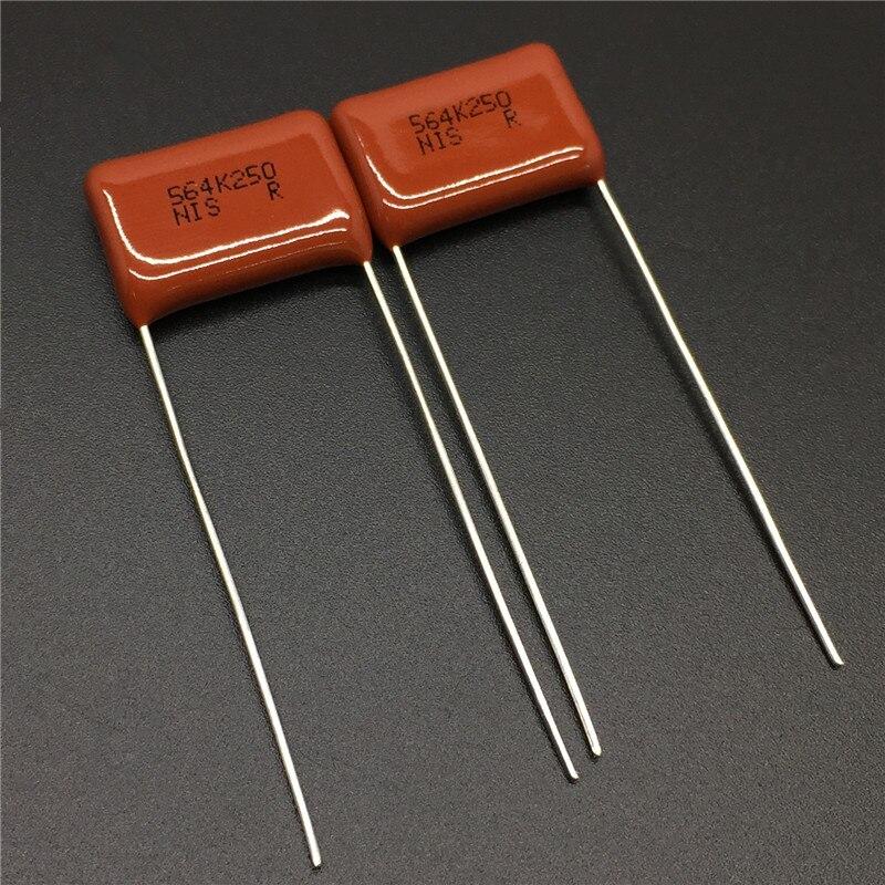 10 uds/100 Uds Japón NISSEI condensador CBB MMC 250V 564 K 10% 0,56 uF 560nF paso = 15mm condensador de película de poliéster metalizado