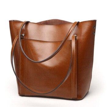Women Vintage Cow split Leather Handbag Women Bag Simple Shoulder Bag Girl Messenger Shoulder Bag Ladies Tote Lady Crossbody Bag