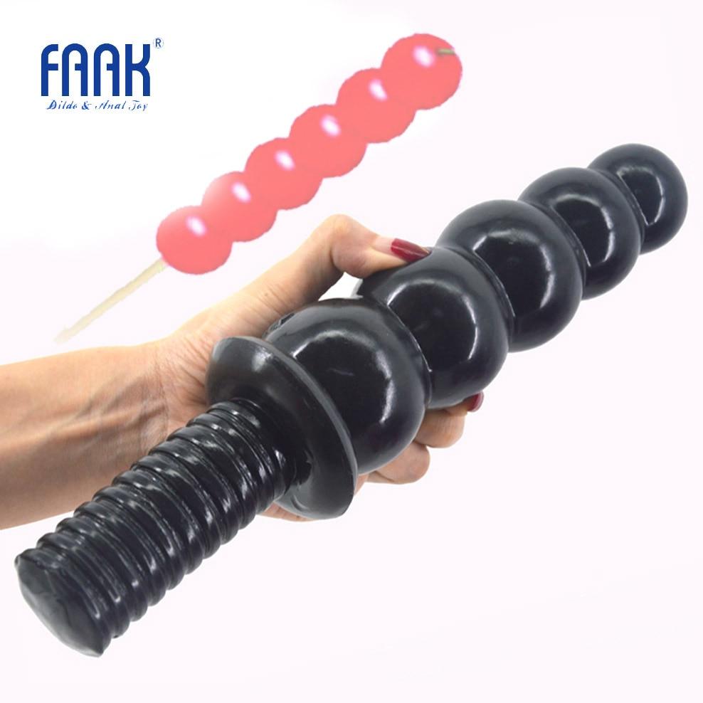 "FAAK anal sex toys beads dildo big dong anal plug screw handle butt plug huge penis 2.36"" thick 11.2""long dick anal dildo"