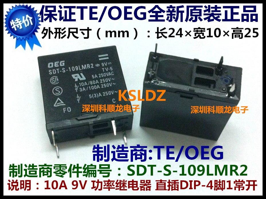 TE TYCO OEG SDT-S-109LMR2 SDT-S-109LMR DIP-4 9VDC 10A Relé de Potência original Novo