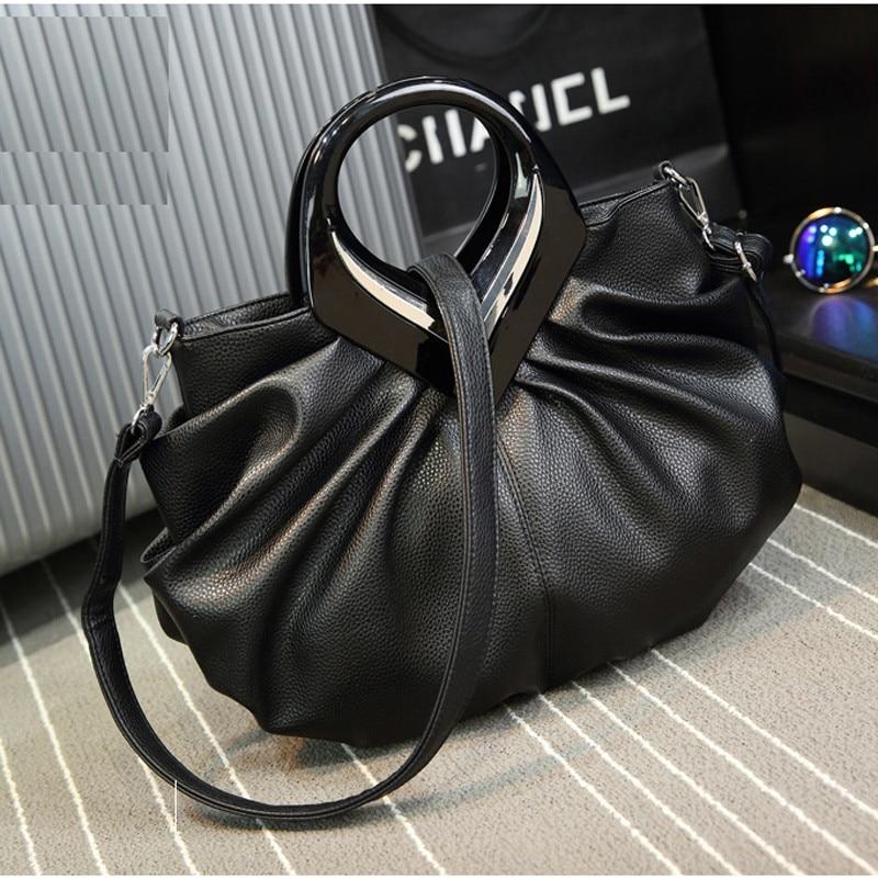 LYKANEFU حقائب النساء عالية الجودة حمل حقيبة للنساء الأسود مقابض عصرية هوبوس بولي PU حقيبة يد جلدية مصمم بولسا الأنثوية