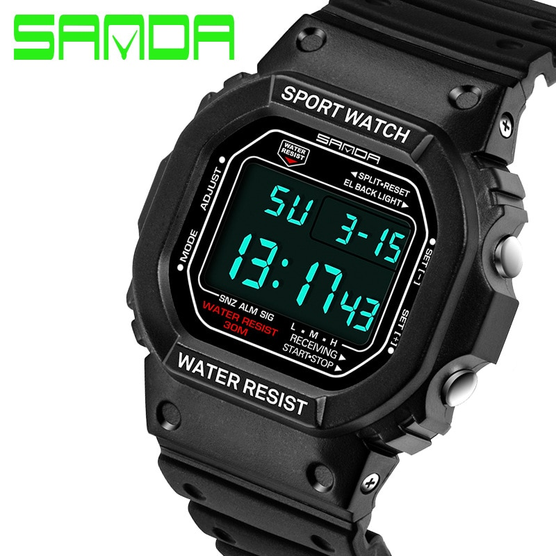 2020 Real marca Sanda reloj de moda Hombres G estilo impermeable deportes militar relojes Shock de lujo analógico cuarzo Digital