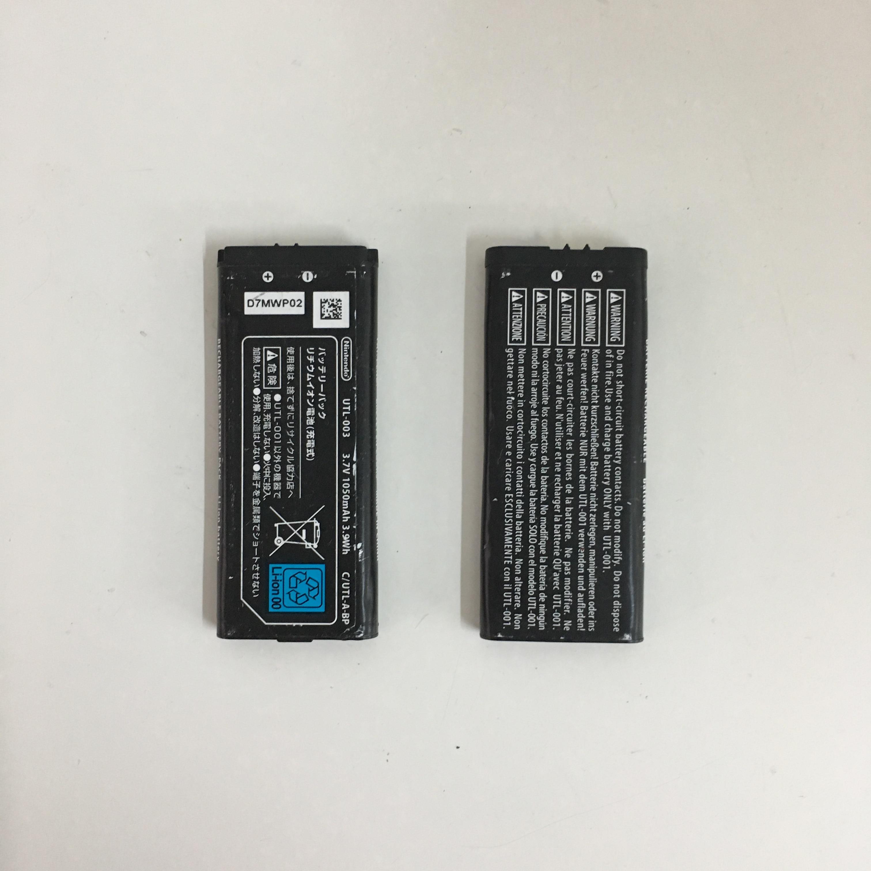 Batería de iones de litio recargable Original usada UTL-003 PARA LA BATERÍA INTEGRADA Nintend ndsisl/LL de 3,7 V y 1050MAH