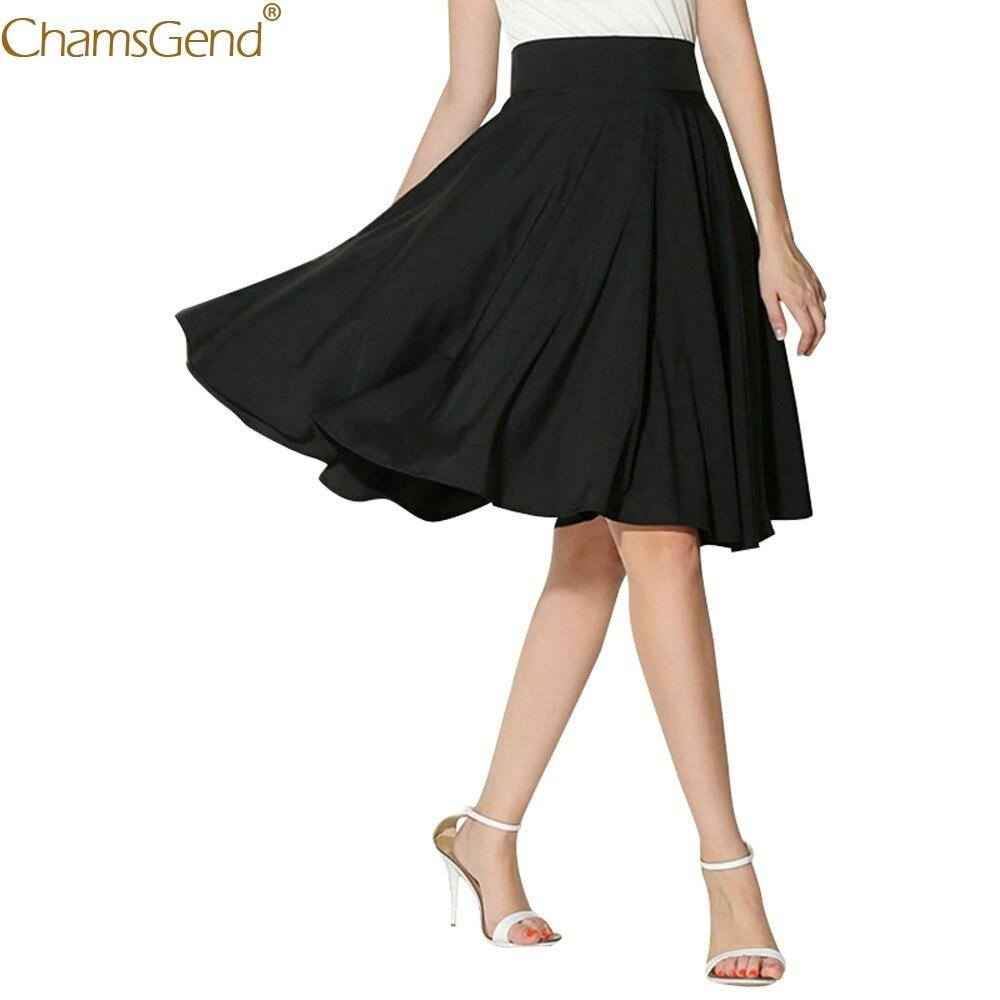 Retro de faldas evasé de verano faldas para Mujer plus tamaño faldas imperio faldas Midi Oficina rodilla Mar