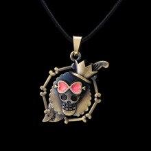 MOSU Anime chaud une pièce Brook Pirates crâne Bronze pendentif et collier haute qualité personnalité bijoux