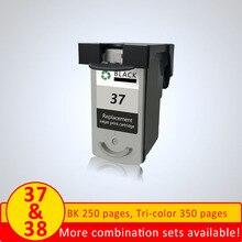 XiangYu cartouche dencre remise à neuf PG-37 CL-38 pour imprimante Canon IP1800 IP1900 IP2500 IP2600 MX300 MX310