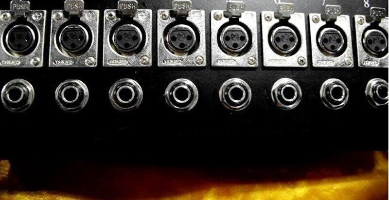 5 قطعة صنوق القابض ميكروفون مقبس الصوت 8 دبوس الهندسة لوحة حالة XLR صندوق وصلات