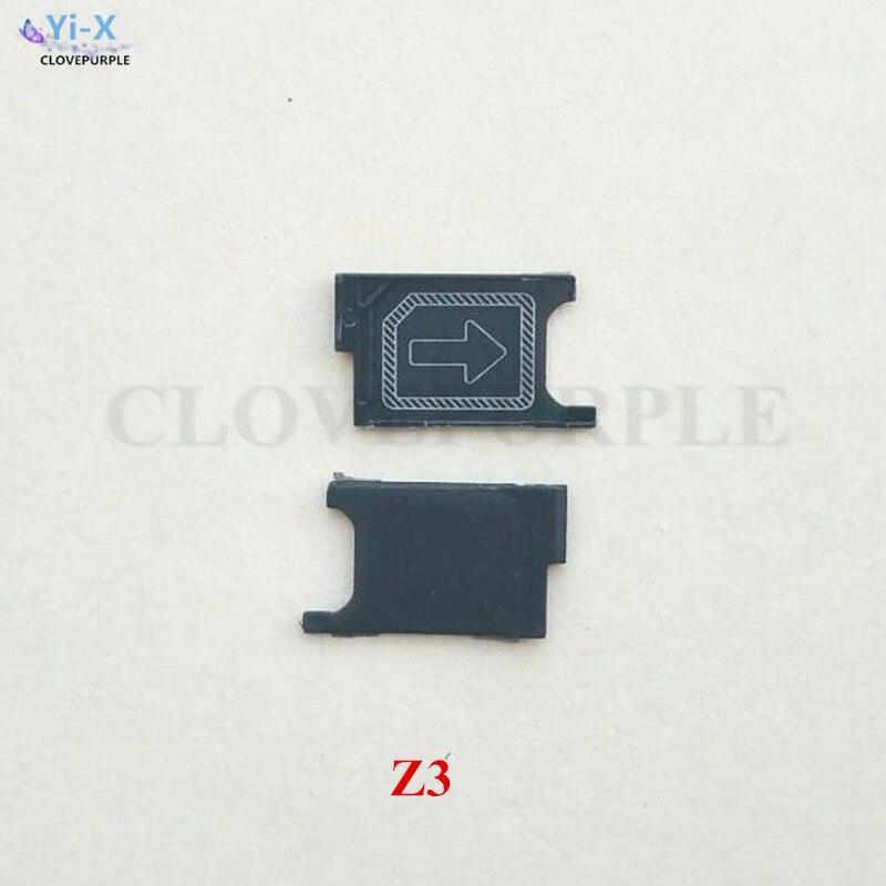 10 unids/lote bandeja de tarjeta SIM Adaptador de soporte de ranura para Sony Xperia Z3 piezas de repuesto