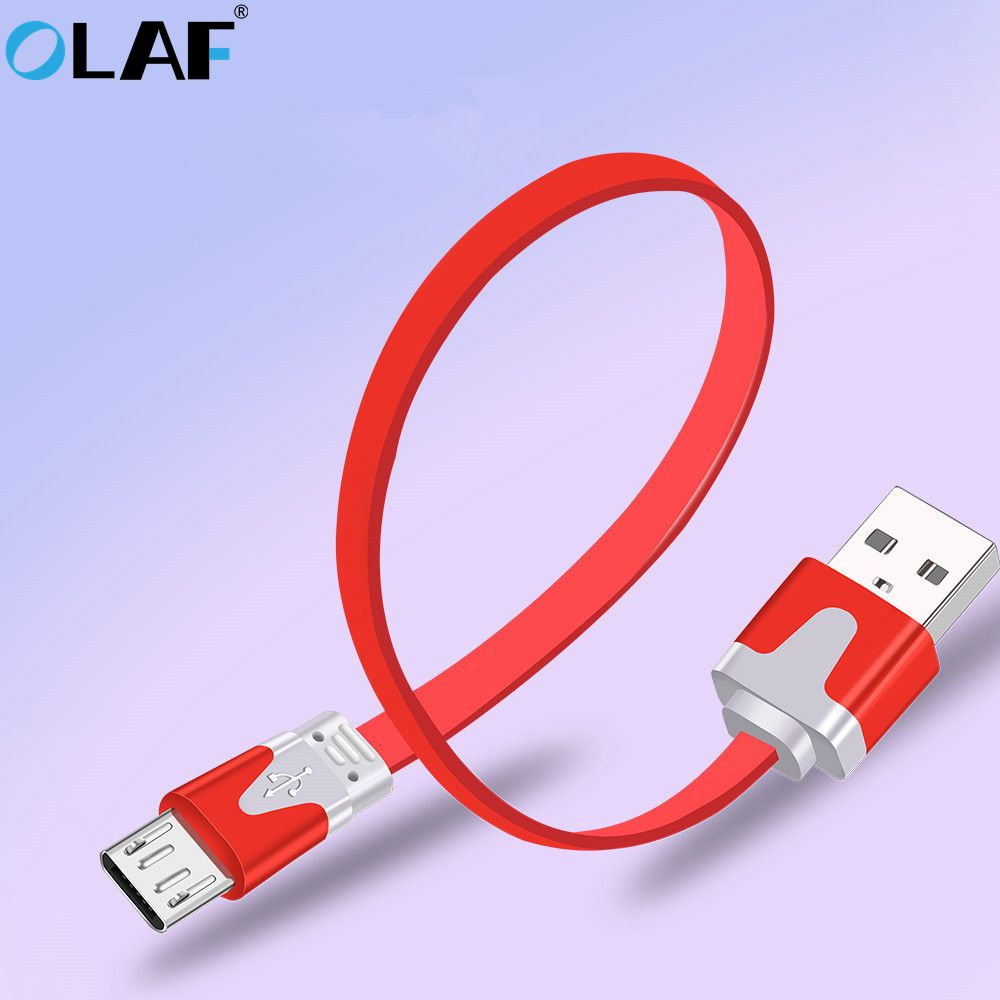 La OLAF Micro Cable USB para Samsung Xiaomi Redmi Android rápido de carga Microusb cargador de datos Cable 1 m/2 m/3 m USB fideos Cahrger Cable