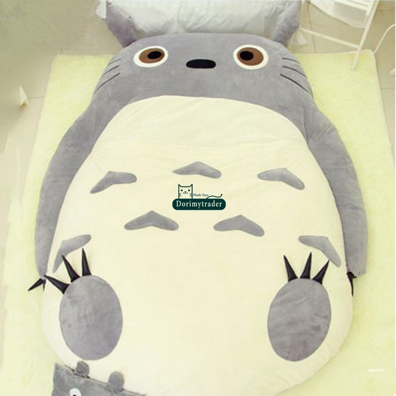 Dorimytrader High Quality 200cm X 150cm Big Anime Totoro Bed Cute Huge Totoro Bed Tatami Carpet Sofa Beanbag Nice Gift DY61279