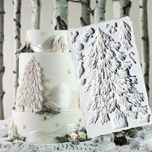 Noel ağacı kalıpları fondan kek dekorasyon araçları silikon kalıpları Sugarcrafts çikolata pişirme araçları kek için Gumpaste formu