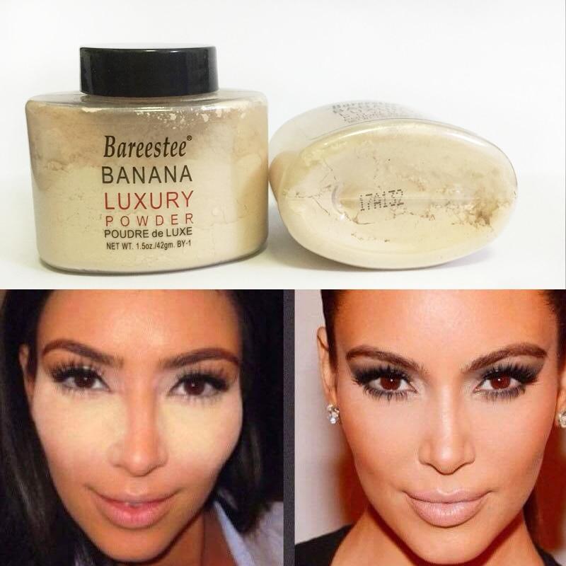 Banana Powder Smooth Loose Oil control Face Powder Makeup Concealer Mineral Finish Powder Transparent Foundation Korea Cosmetics недорого