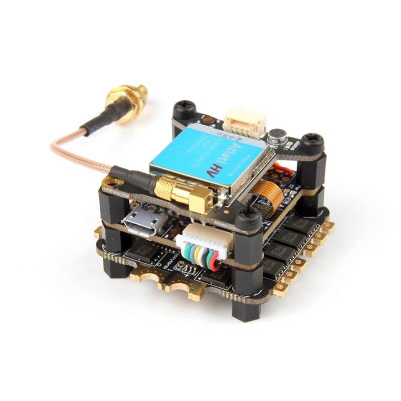 Holybro tekkos 4 em 1 30a blheli_s esc + kakute f4 v2 controlador de vôo + atlatl hv 5.8g 40ch vtx para rc modelos fpv zangão