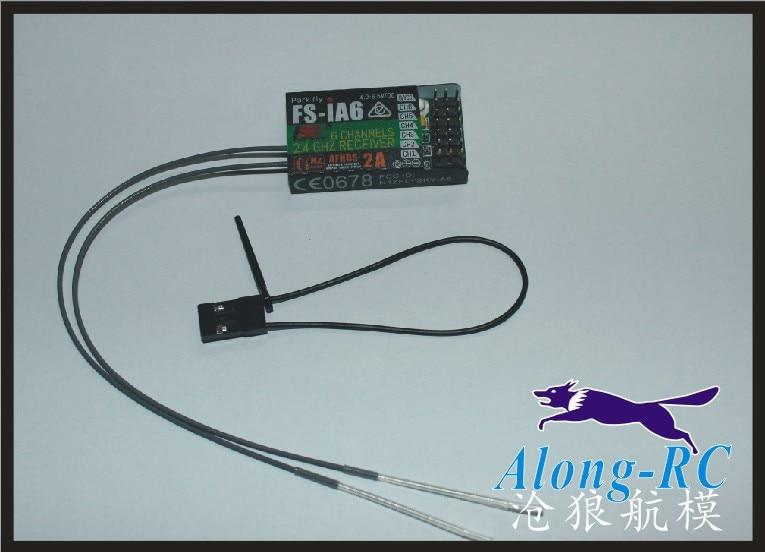 Envío Gratis RC aeroplano repuesto FS-IA6 FS IA6 6ch 2,4G RC receptor para Flysky FS-I6 MINI receptor