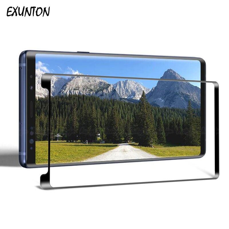 EXUNTON, para Samsung Galaxy S9 S8 Plus, funda de cristal templado, Protector de pantalla amigable para Samsung S9Plus S8Plus, funda 3D, se ajusta a una película