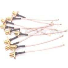 Connecteur de panneau à bride câble Coax 15cm   uFL/u.FL/IPX/IPEX à SMA femelle avec 2 trous, connecteur de panneau de montage à bride, câble RG178, expédition rapide 10 pièces