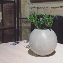 Spherical flowerpot mold Ball Shaped Concrete pot mould silicone concrete mold