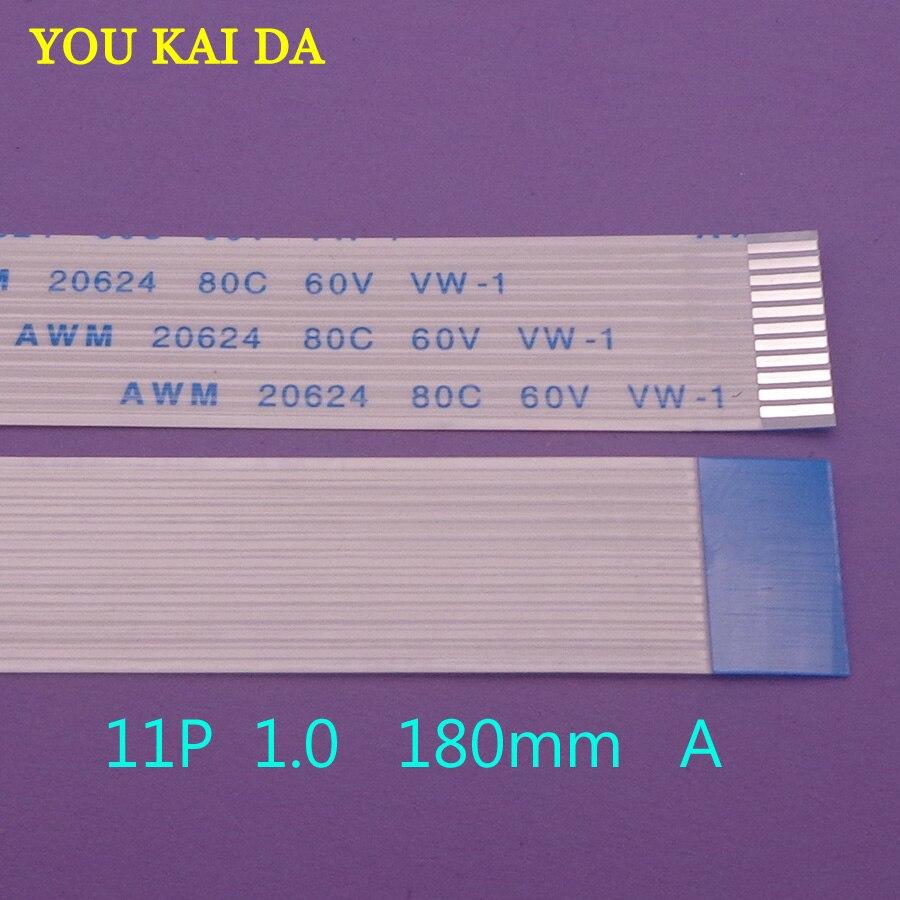 1 piezas 11pin FFC FPC plana cable flexible 1,0mm hacia adelante misma...