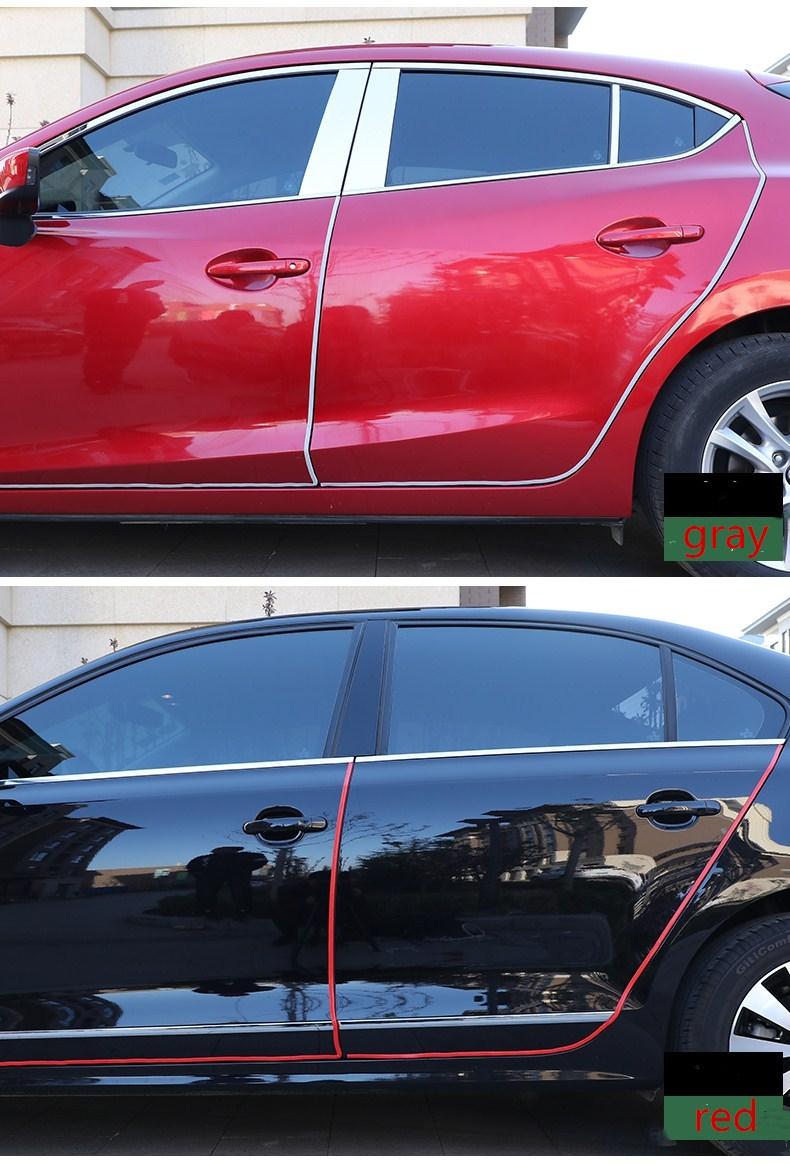 RQXR bandes de plaque de porte de voiture   Accessoires de voiture pour Nissan Sylphy sentra 2012-15